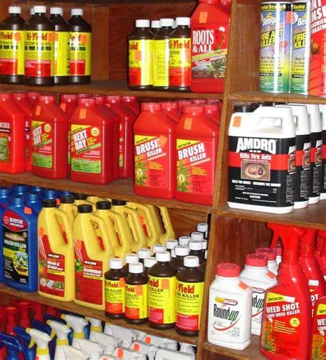 Shelf Of Pesticides by Caes Newswire Pesticide Precautions