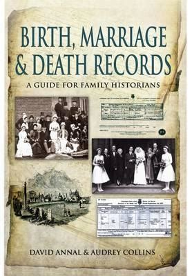 Birth Marriages And Deaths Records Birth Marriage And Records David Annal 9781848845725