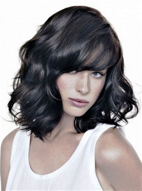 medium hairstyles for black with hair pictures of medium wavy hairstyles for black hair