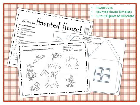 printable house craft haunted house craft free downloadable printable