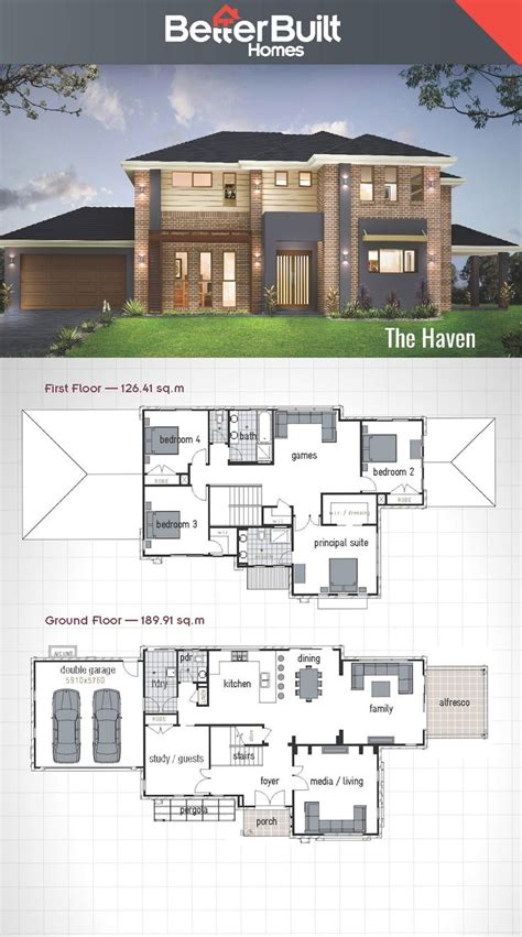 Best 25 Double Storey House Plans Ideas On Pinterest 2 House Plans