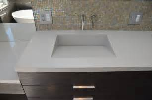 Custom Composite Vanity Tops Quartz Integrated Sinks Modern Vanity Tops And Side