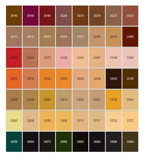sle general color chart 10 documents in pdf