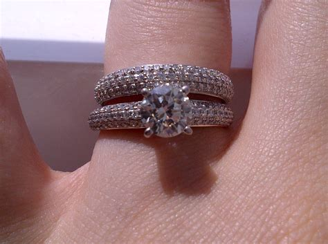 engagement ring wedding band which way to wear it