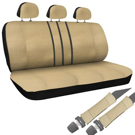 tan bench seat cover suv van truck seat cover tan 8pc set bench w belt pads