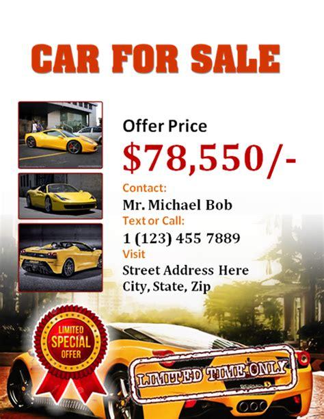 Car For Sale Flyer Office Templates Online Car For Sale Flyer Template Free