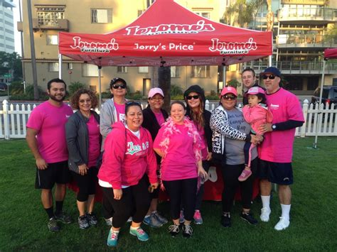 Jerome S Furniture San Marcos by Susan G Komen San Diego Jerome S Furniture Is A Warrior