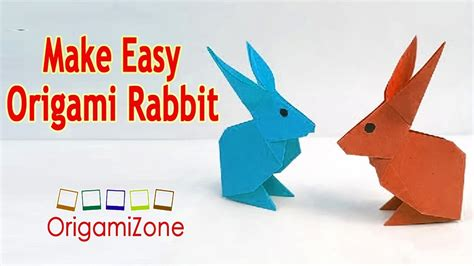 How To Make A Paper The Easy Way - easiest way to make an origami rabbit how to make a paper
