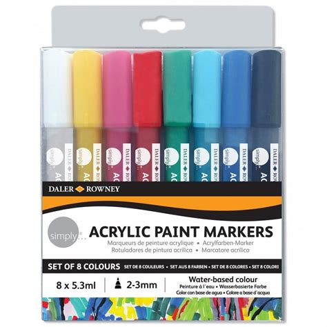 acrylic paint markers simply acrylic paint markers 8 pack daler rowney from