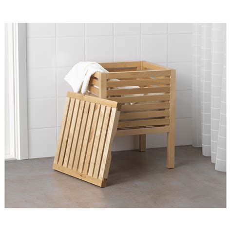 ikea bathroom bench molger storage stool birch ikea