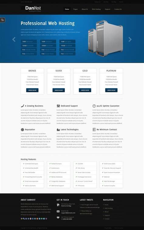 30 Best Web Hosting Website Templates Html Css And Wordpress Ginva Hosting Template