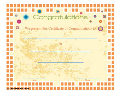 congratulations certificate template new calendar
