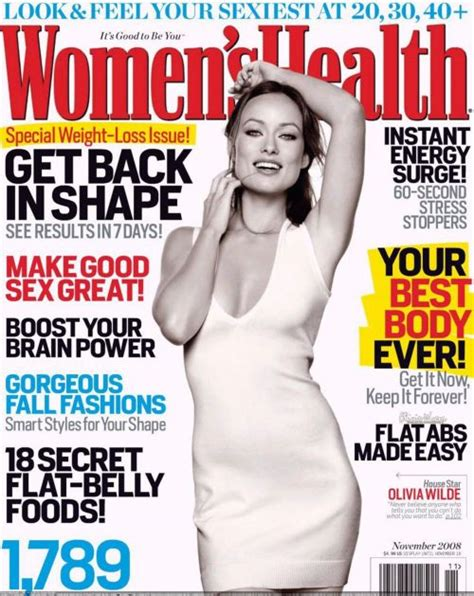 Top 10 Womens Magazines by Wilde S Health Magazine November 2008 Cover