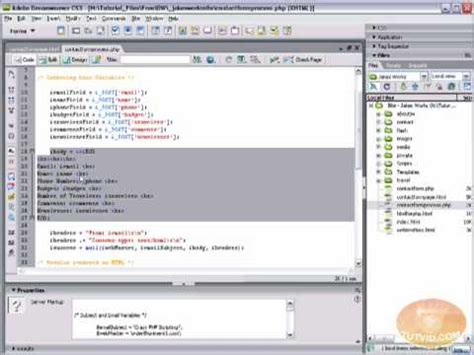 tutorial php send email build a php script to send email dreamweaver tutorial