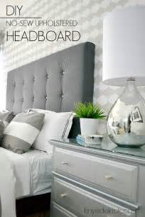diy upholstered headboard with a high end look with