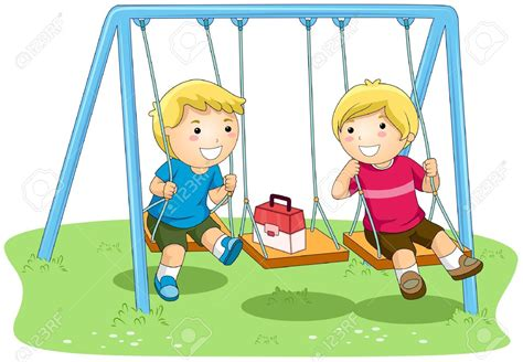Swinging At Playground Children Clipart Explore Pictures