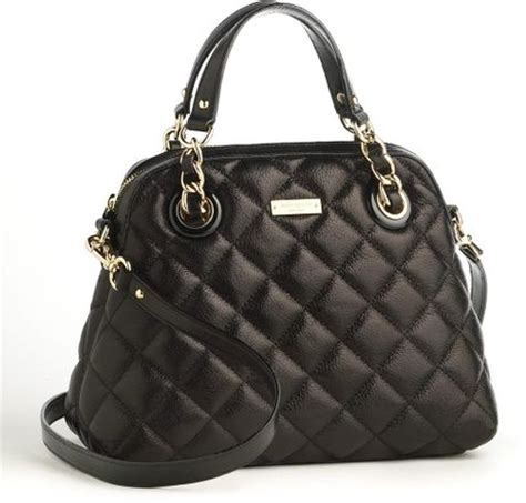 Kate Spade Black Quilted Purse by Kate Spade Small Georgina Quilted Leather Shoulder Bag In