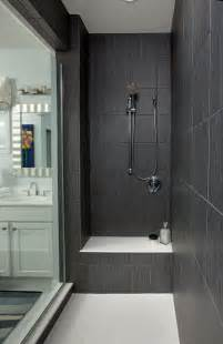 Glass Tile For Bathrooms Ideas by Dark Gray Large Shower Tiles Walk In Shower Ideas Glass