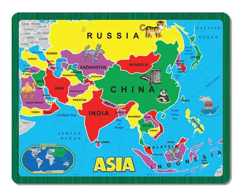 map of asia continent asia the continent puzzle children s puzzles