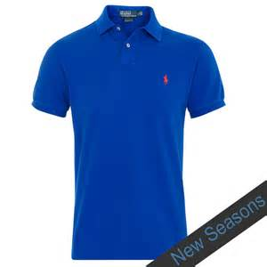 Polo Shirts Polo Ralph Custom Fit Polo Shirt In Pacific Royal