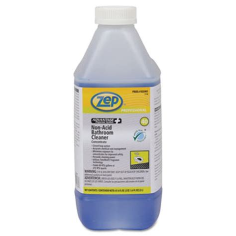 Acid Bathroom Cleaner by Zep Advantage Concentrated Non Acid Bathroom Cleaner 2l