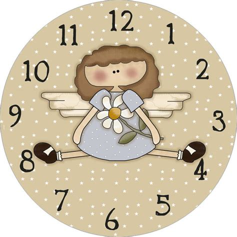 printable flower clock template
