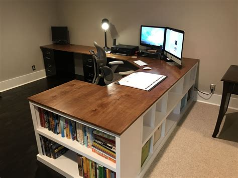 Cubby Bookshelf Corner Desk Combo Diy Projects Office