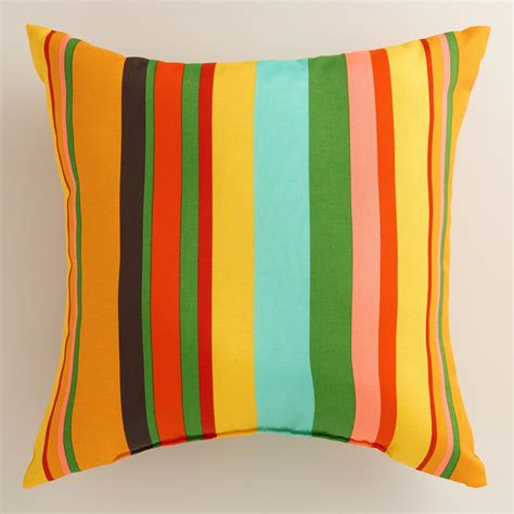 Outdoor Accent Pillows by Stripe Outdoor Throw Pillow World Market
