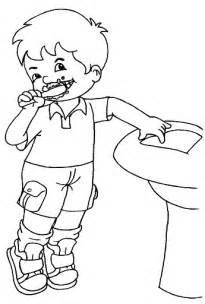 imagenes de niños lavandose los dientes partes de los dientes colouring pages