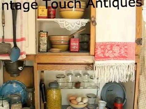 Antique Hoosier Kitchen Cabinet by Antique Kitchen Display With Hoosier Cabinet Home Decor