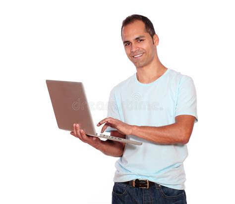south american using laptop stock photos south american using laptop stock images alamy smiling latin adult man using his laptop computer royalty free stock photo image 31365805