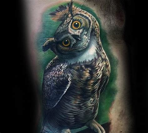 owl tattoo rib cage 40 realistic owl tattoo designs for men nocturnal bird ideas
