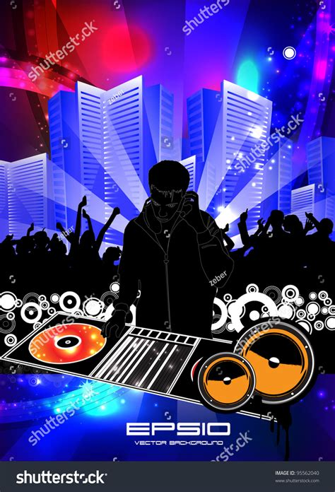 design dj poster abstract music dj poster design template vector
