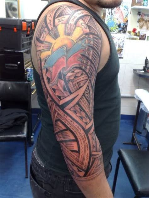 colored tribal sleeve tattoos 54 tattoos collection