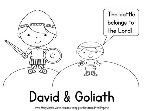 David Goliath Prek Pack Free Mini Pack David And Goliath Coloring Page
