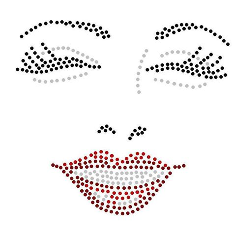 Gezicht Hotfix Patronen Pinterest String Art Face Template And String Art Patterns Hotfix Rhinestone Templates
