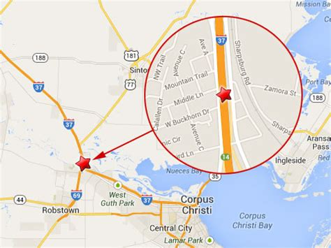 texas mile marker map cargo truck due to heavy stops traffic in corpus christi tx truck