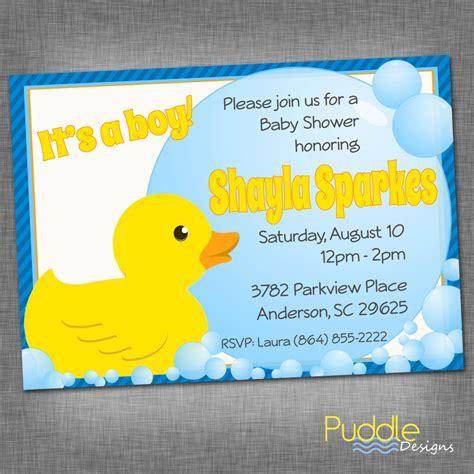 rubber duck baby shower invitation rubber ducky baby shower invitation