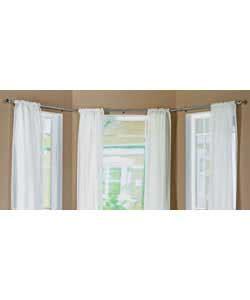 bay window curtain poles argos chrome effect bay window curtain pole self trading