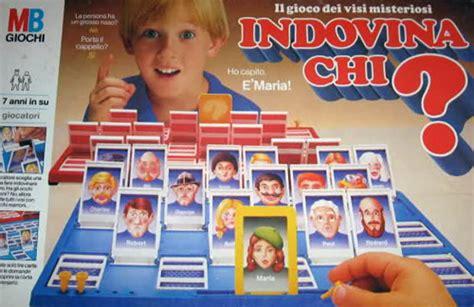 indovina chi gioco da tavolo i giochi da tavolo anni 80 90 non dimenticheremo mai