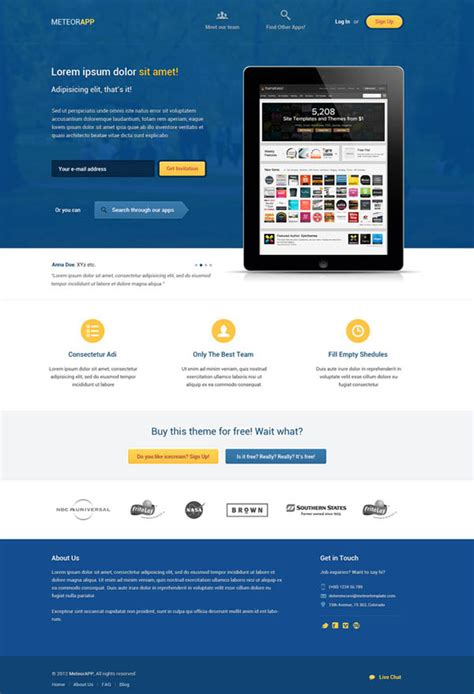 Fresh Free Psd Website Templates Freebies Graphic Design Junction Landing Page Templates Free In Html