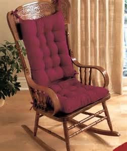 Wooden Rocking Chair Cushion Set Rocking Chair Cushion Set In Blue Burgundy Or Green