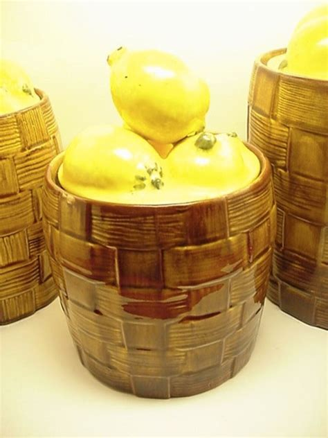 lemon kitchen decor 123 best ceramic canister sets images on pinterest