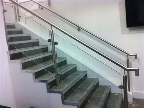 Stainless steel balustrade with glass infill panels and
