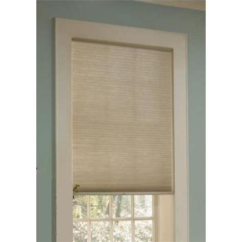 Custom L Shades by Custom Size Now By Levolor 48 In W X 72 In L Sand Light Filtering Cellular Shade Home