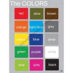 le auf englisch die farben in