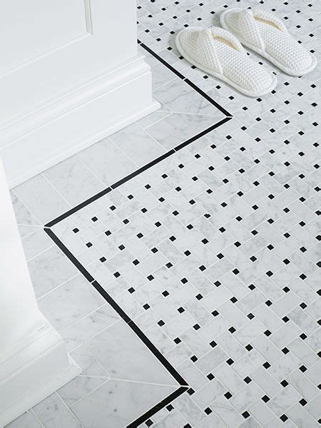 black and white border tiles for bathroom a bath with room to move marble floor marble tiles and