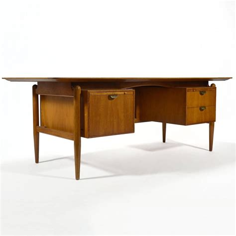 Baker Desk by Finn Juhl Pedestal Desk By Baker For Sale At 1stdibs