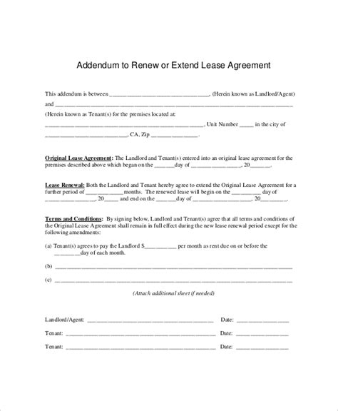 lease letter templates 8 free sample example format download