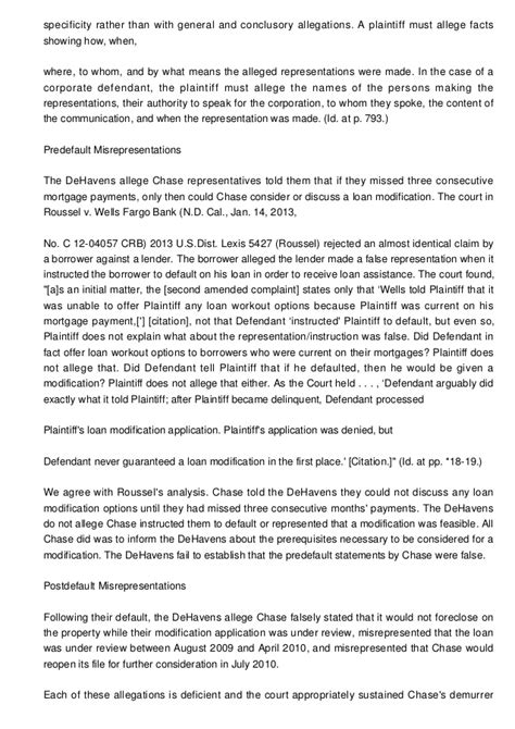 Hardship Letter Nationstar 100 Denied Loan Mods For H Litigation Developments And Trends Modifications